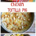 Quick Chicken Tortilla Pie made in layers in a Springform Pan from NoblePig.com.