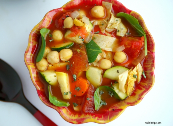 Skinny Italian Vegetable Soup 130 calories in one cup