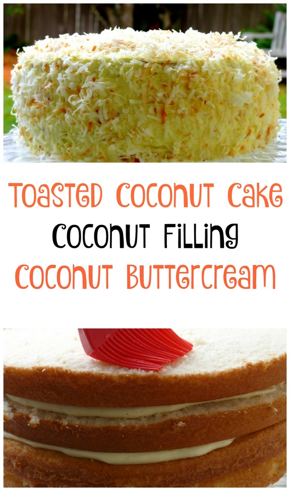 Toasted Coconut Cake Collage