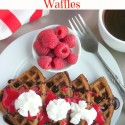 Belgian-Chocolate-Waffles-with-Homemade-Raspberry-Sauce-is-perfect-for-breakfast-in-bed.