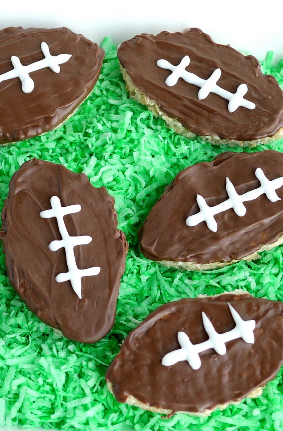 Football Inspired Rice Krispies Treats are the perfect treat for game day