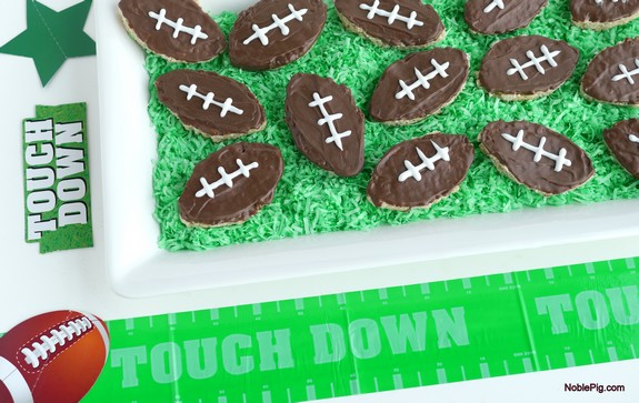Football Inspired Rice Krispies Treats perfect for game day