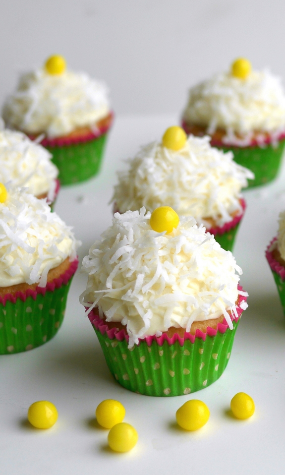 Coconut Overload Cupcakes with Coconut Cream Cheese Frosting are the perfect celebratory cupcake