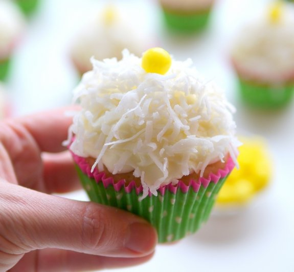 Coconut Cupcakes With Coconut Cream Cheese Frosting Recipe ...