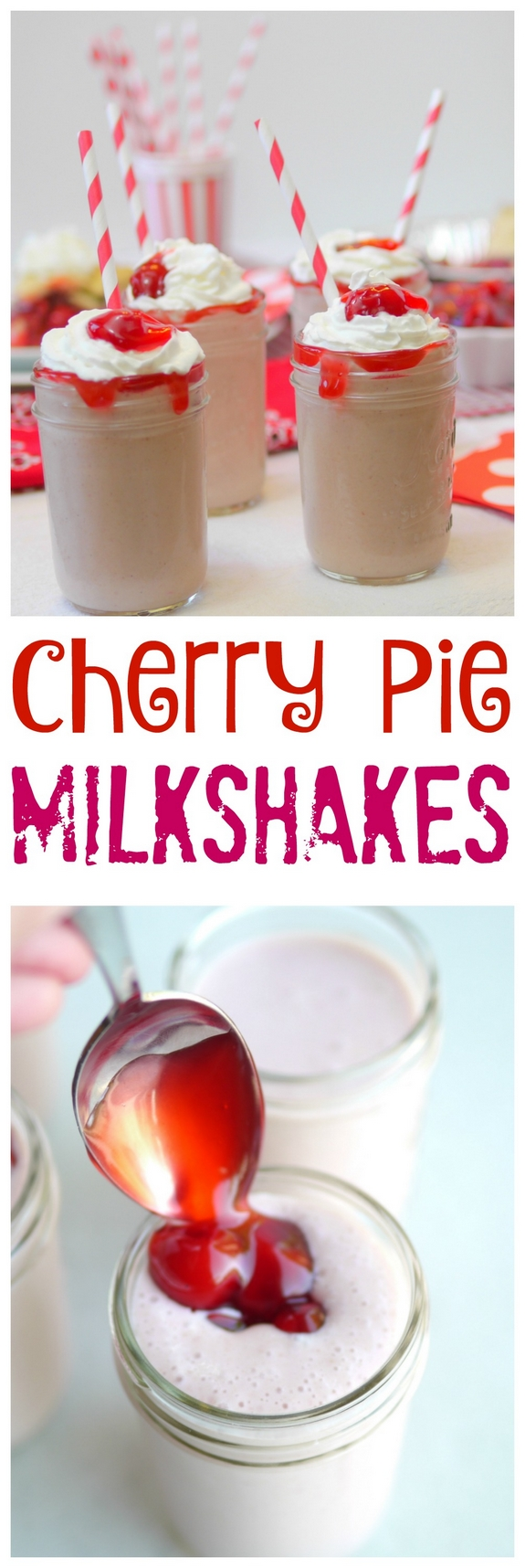 Cherry Pie Milkshakes