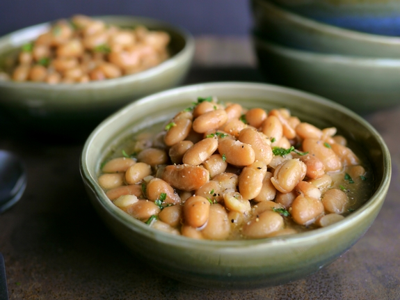 Slow Cooker Mexican Beans are packed with flavor
