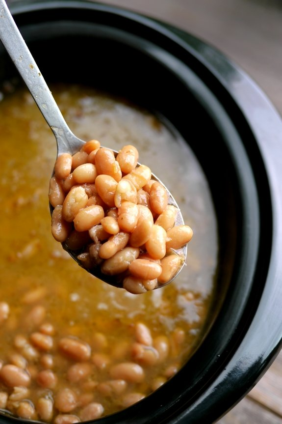 Slow Cooker Mexican Beans are the perfect side dish to any meal