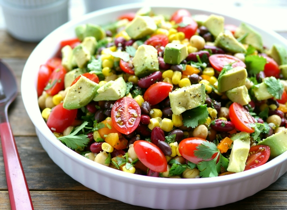 Avocado and Three Bean Salad a favorite side dish
