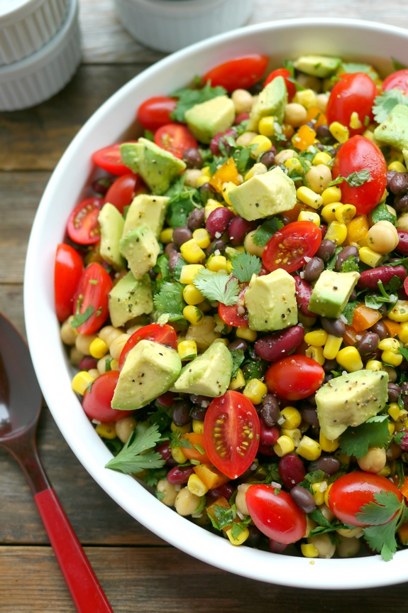 Avocado and Three Bean Salad is a refreshing salad for all your entertaining needs