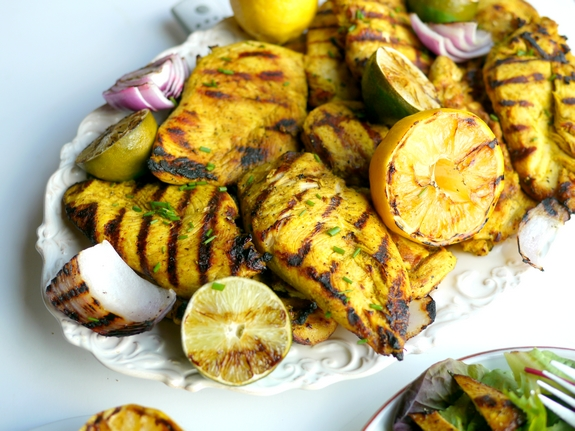Grilled Turmeric Lemon and Lime Chicken 1