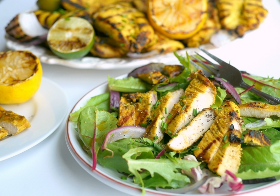 Grilled Turmeric Lemon and Lime Chicken is perfect for dinner at home