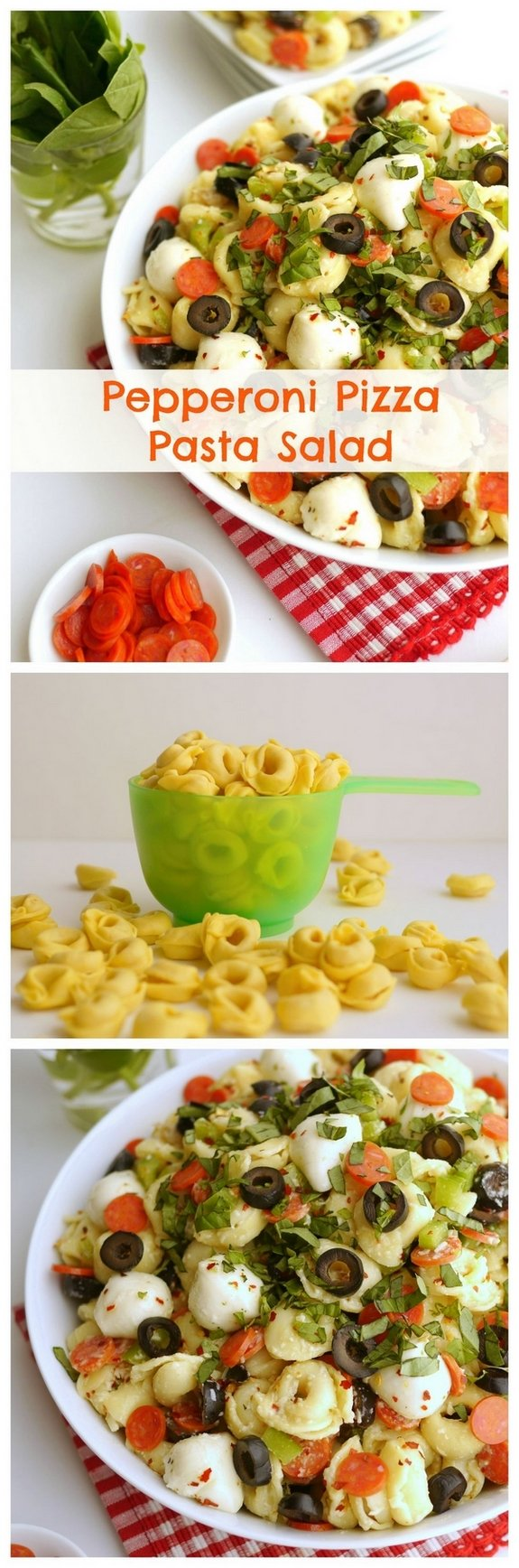 Pepperoni Pizza Pasta Salad is a great side dish for a potluck or any other gathering you can think of