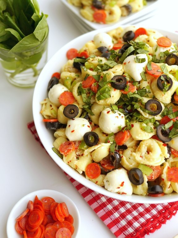 Pepperoni Pizza Pasta Salad is great for any gathering