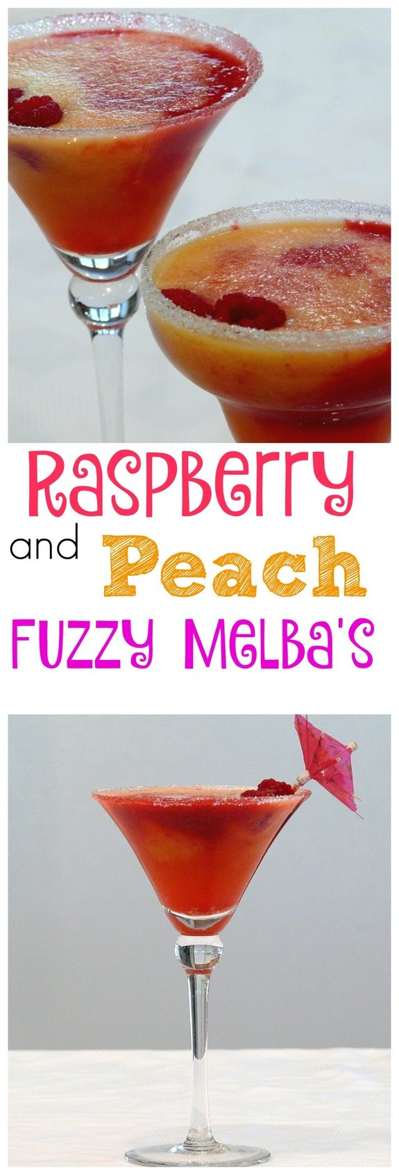 Raspberry and Peach Fuzzy Melbas