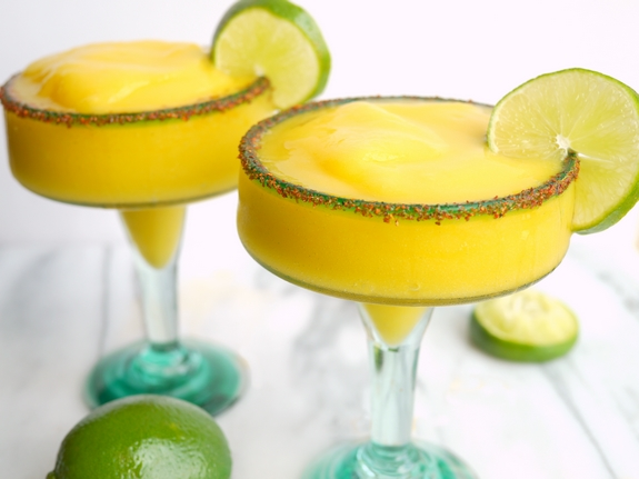 Spicy Mango Frozen Margaritas for the win
