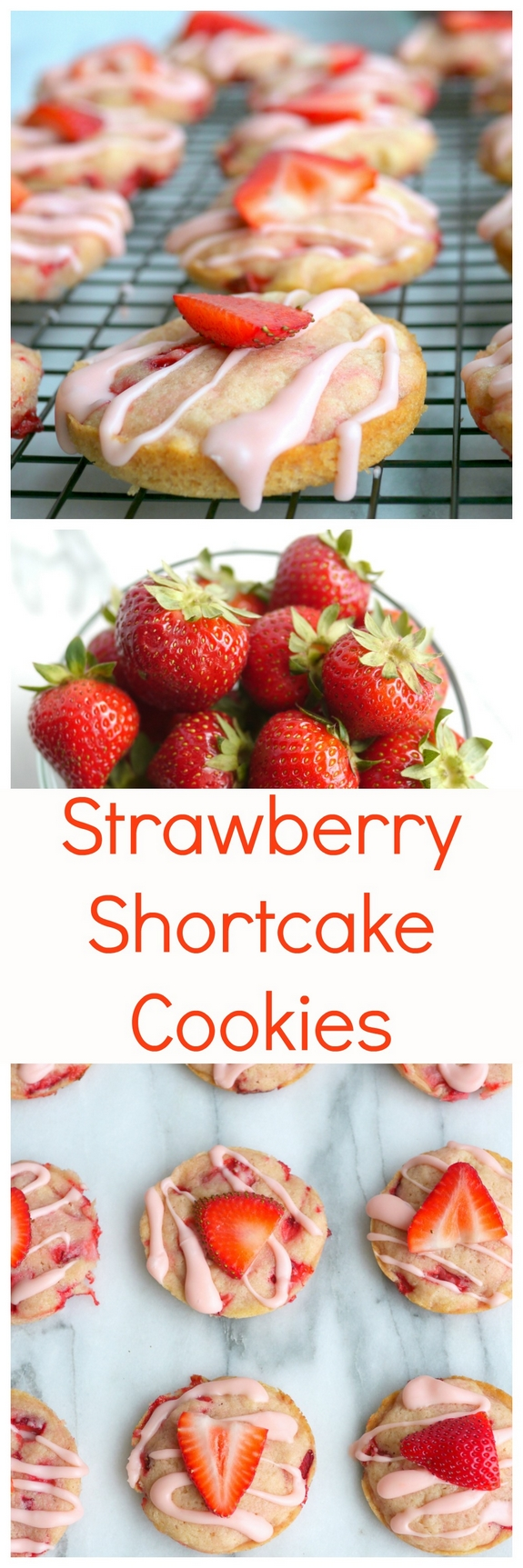 Soft Baked Strawberry Shortcake Cookies | Noble Pig