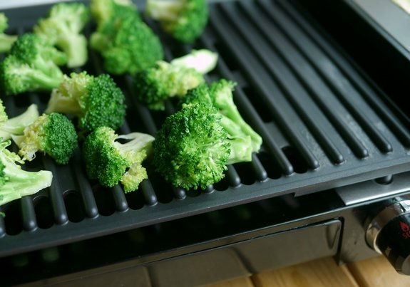 Grilled Broccoli Salad the grill