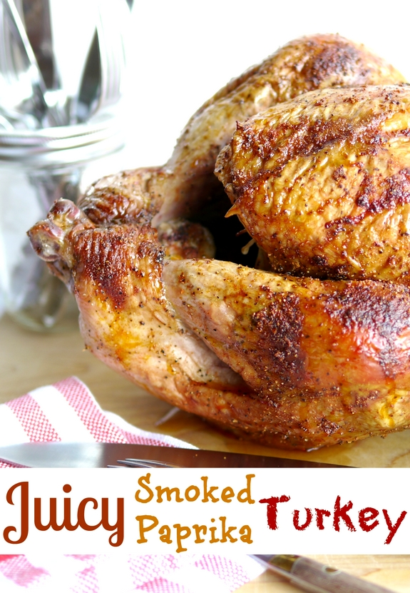 Juicy Smoked Paprika Turkey will get your family arounfd the dinner table