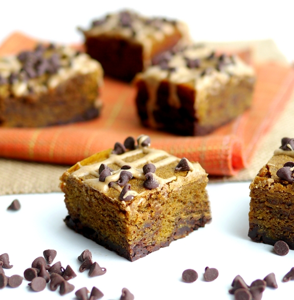 Pumpkin Mocha Fudge Brownies are so so delicious
