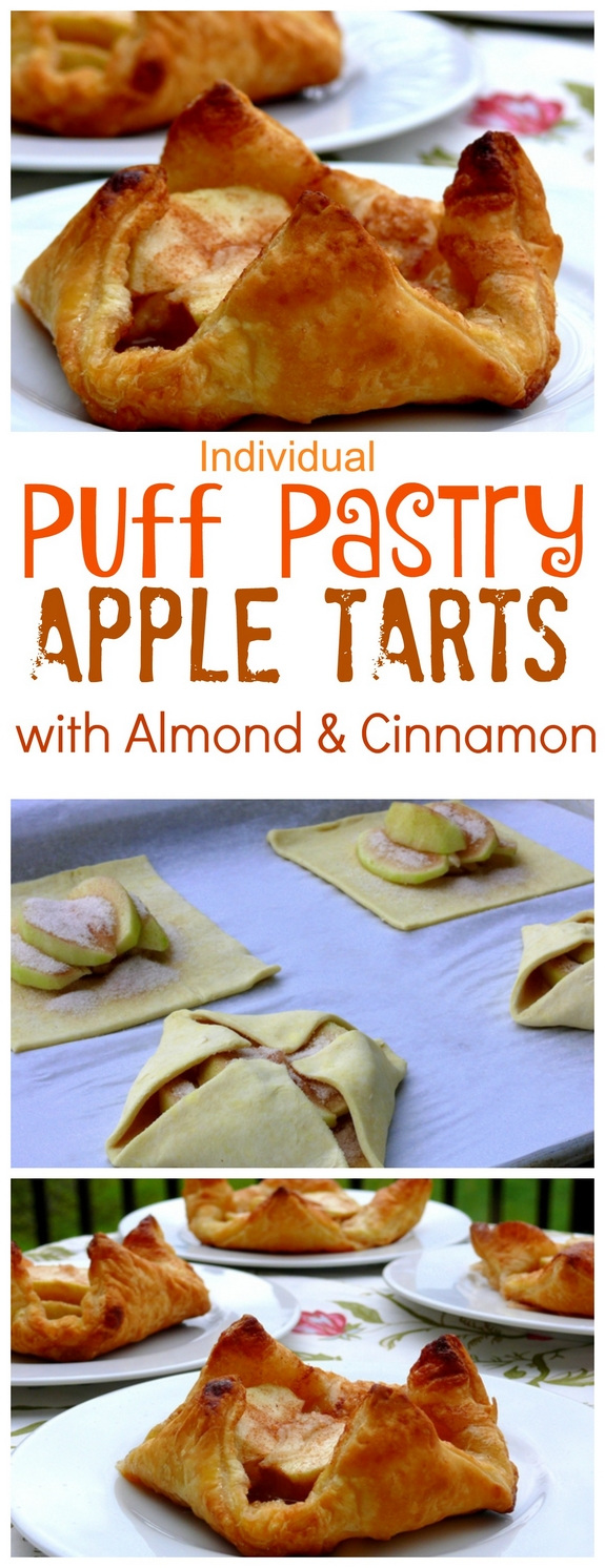 Individual Puff Pastry Apple Tarts with Almond and Cinnamon