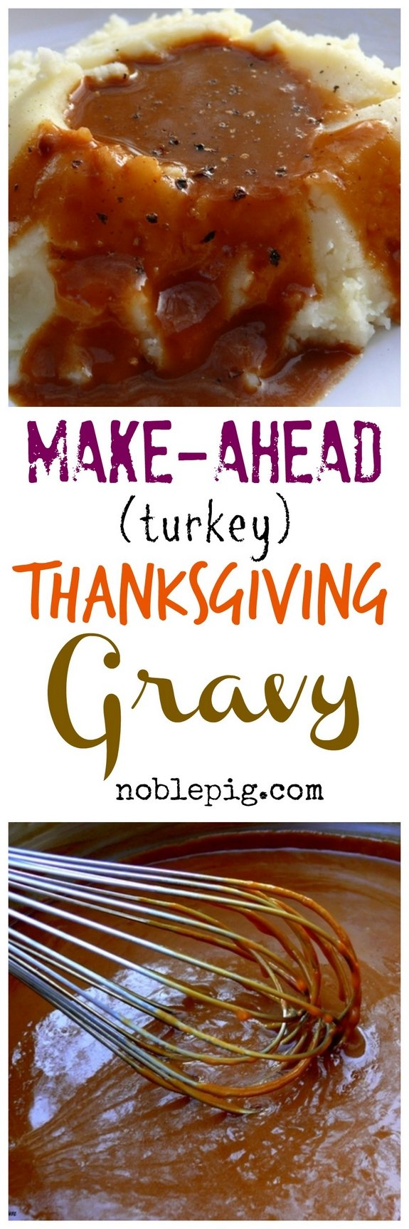 Make Ahead Turkey Thanksgiving Gravy