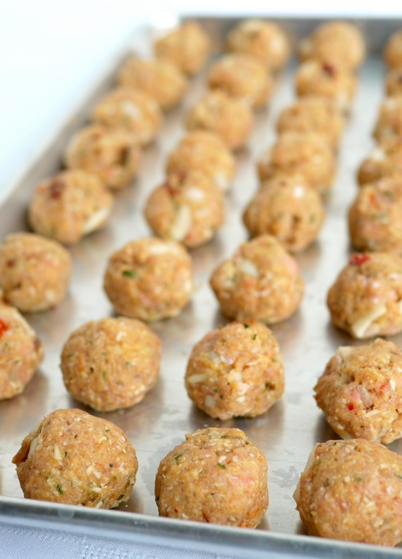 Mini Turkey Chipotle Meatballs raw