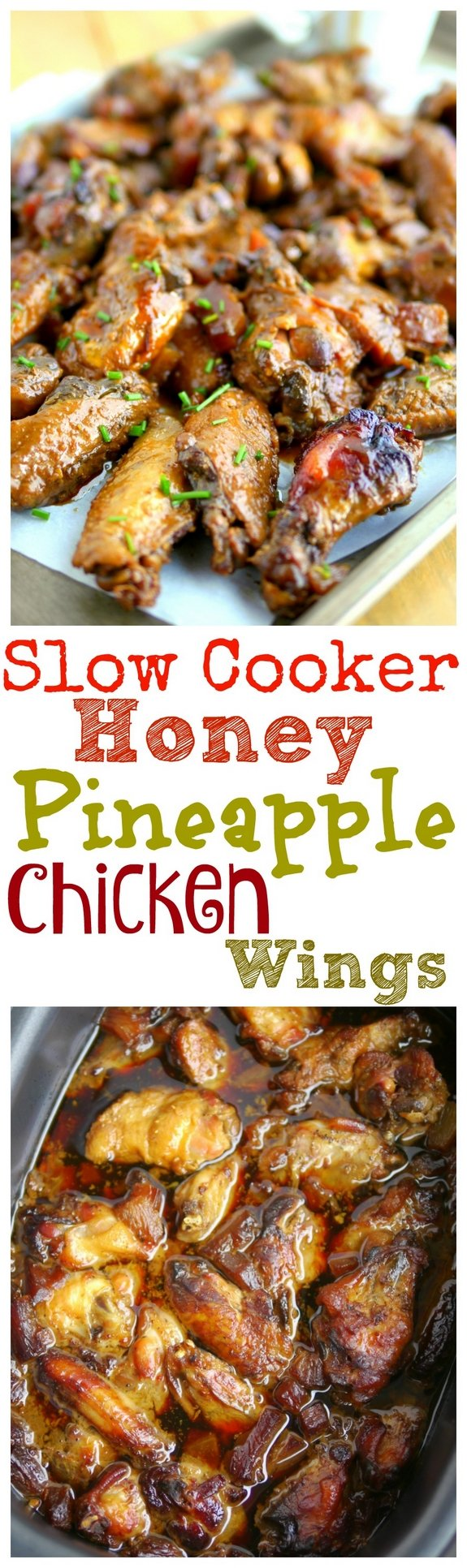Slow Cooker Honey Pineapple Chicken Wings