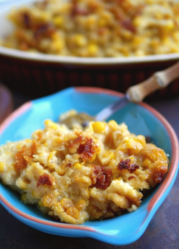 Slow Cooker Sweet Corn Pudding is an awesome side dish