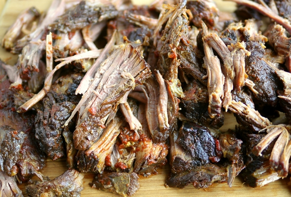 The Best Tasting Tangy Brisket cooked meat
