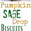 Pumpkin Sage Drop Biscuits