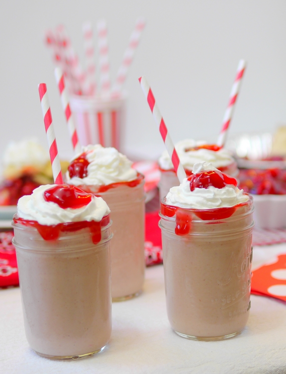 Cherry Pie Milkshakes for dessert