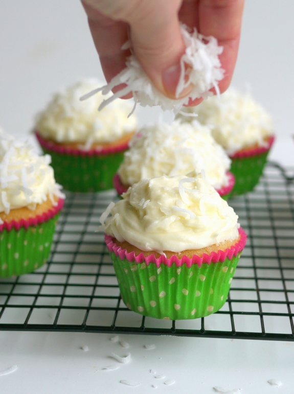Coconut Overload Cupcakes are filled with coconut goodness