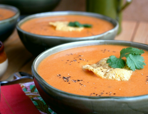 Creamy Tomato Chipotle Soup is delicious