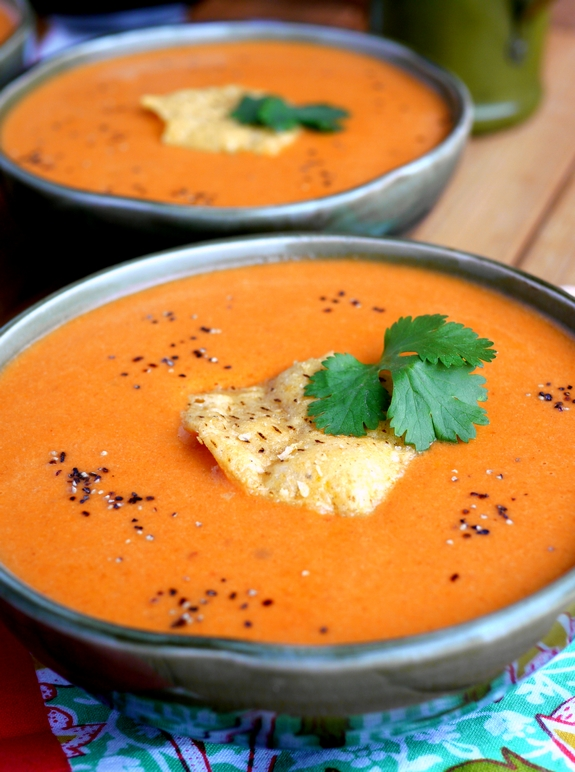 Creamy Tomato Chipotle Soup takes the chill out of winter