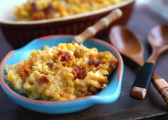 Slow Cooker Sweet Corn Pudding is the perfect side dish 1