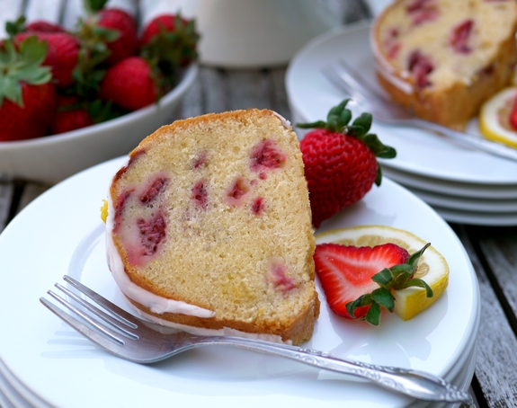 Strawberry Lemon Cream Cheese Pound Cake is great for entertaining