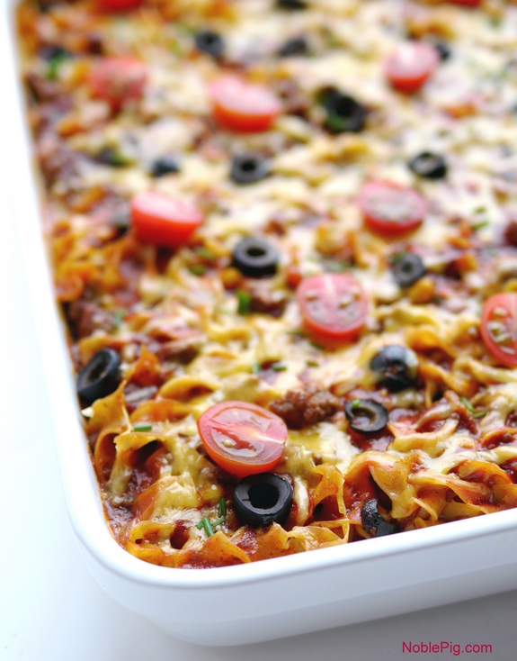 Taco Noodle Casserole is the perfect weeknight dinner