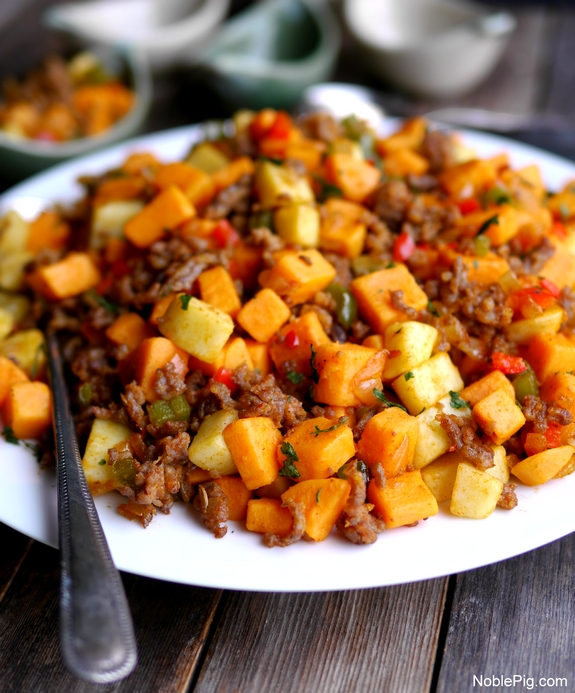 Sausage and Sweet Potato Hash  Perfect for dinner or breakfast from Noble Pig