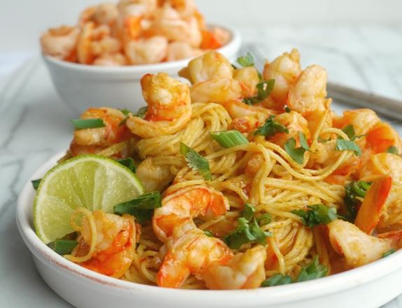 Spicy Thai Shrimp Pasta