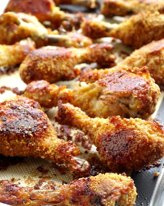 Potato Chip-Bisquick Oven Fried Chicken