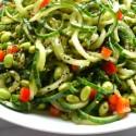 Cucumber Edamame Salad with Ginger-Soy Vinaigrette