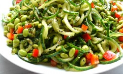 Cucumber Edamame Salad with Ginger-Soy Vinaigrette
