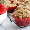 Bakery Style Strawberry Yogurt Crumb Muffins