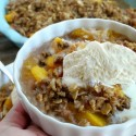 Coconut Peach Crumble