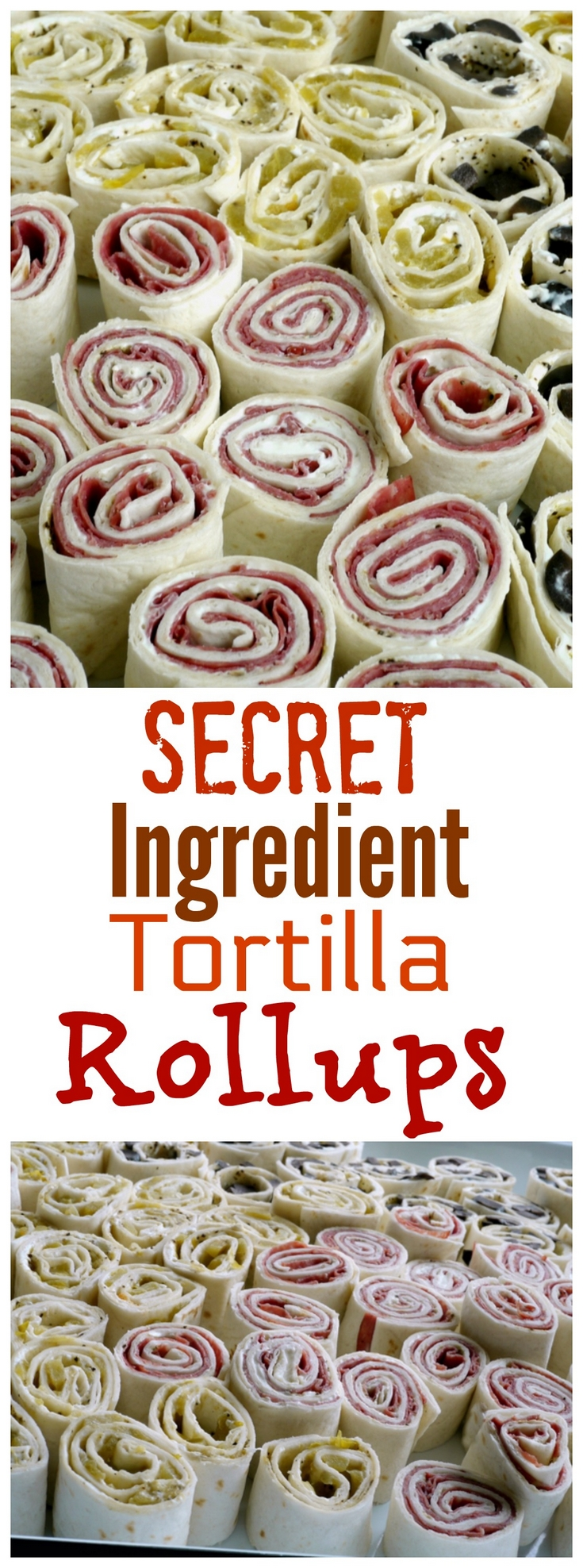 These Secret Ingredient Tortilla Rollups are the perfect party food for any occasion. You'll be amazed how one, awesome ingredient will take your tortilla rollups to the next level.