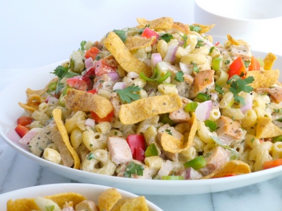 Kicked-Up Chicken-Macaroni Salad from NoblePig.com.