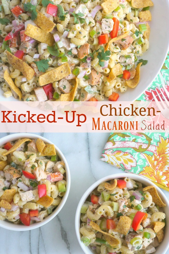 Kicked-Up Chicken-Macaroni Salad from Noble Pig