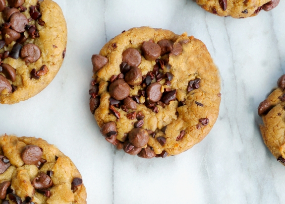 Tropical Chocolate Chip Cookies with Coconut Oil from NoblePig.com