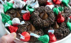 The Easiest Triple Chocolate KISS Cookies