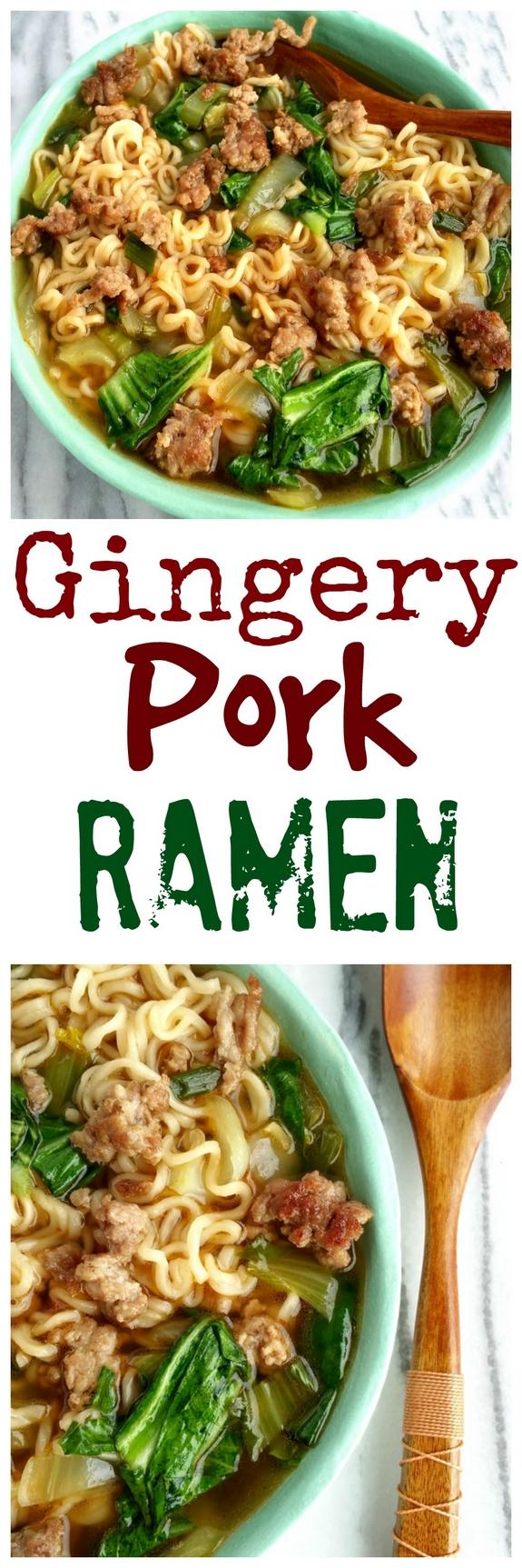 Gingery Pork Ramen